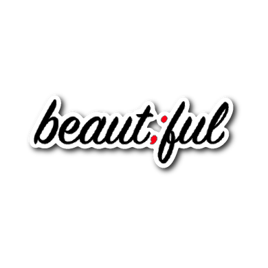 beautiful ; die-cut sticker