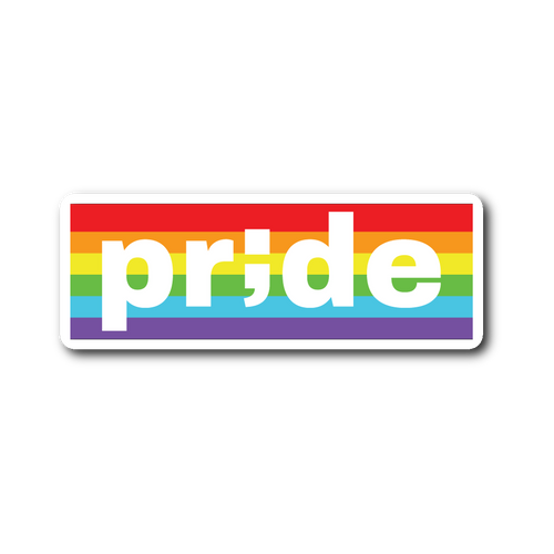pride ; die-cut sticker