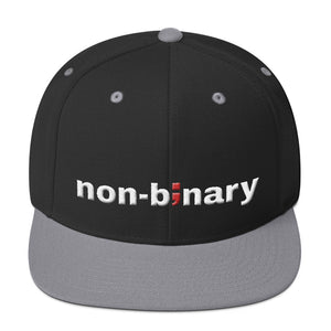 non-binary ; Embroidered Snapback Hat