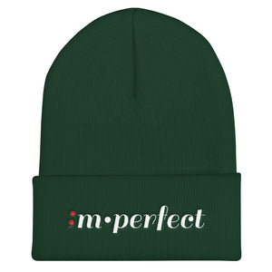 im•perfect ; Embroidered Cuffed Beanie