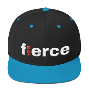 fierce ; Embroidered Snapback Hat