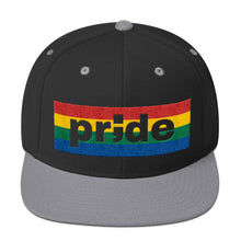 Load image into Gallery viewer, pride ; Embroidered Snapback Hat