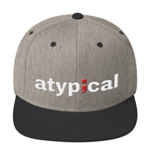 Load image into Gallery viewer, atypical ; Embroidered Snapback Hat