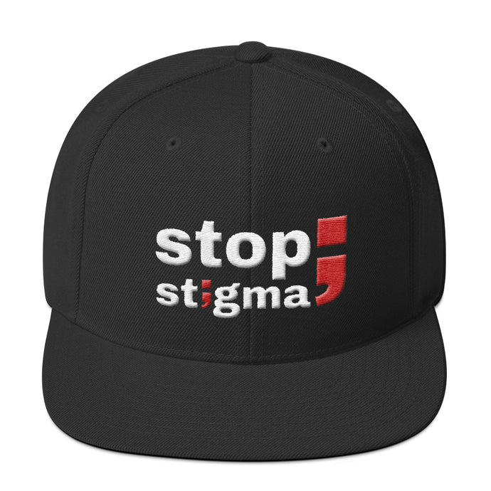 stop stigma ; Embroidered Snapback Hat