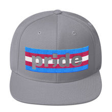 Load image into Gallery viewer, trans pride ; Embroidered Snapback Hat