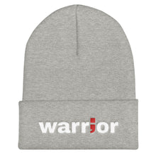 Load image into Gallery viewer, warrior ; Embroidered Cuffed Beanie