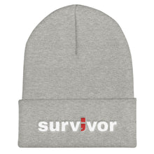 Load image into Gallery viewer, survivor ; Embroidered Cuffed Beanie