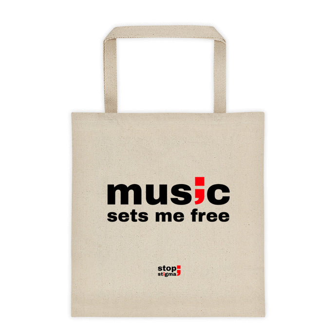 music sets me free ; Tote bag