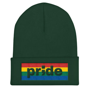 pride ; Embroidered Cuffed Beanie