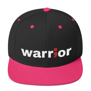 warrior ; Embroidered Snapback Hat