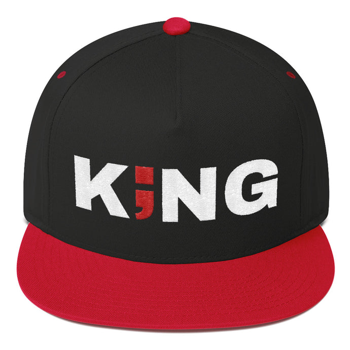 KING ; Embroidered Snapback Hat