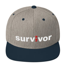 Load image into Gallery viewer, survivor ; Embroidered Snapback Hat