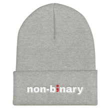 Load image into Gallery viewer, non-binary ; Embroidered Cuffed Beanie