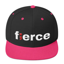 Load image into Gallery viewer, fierce ; Embroidered Snapback Hat