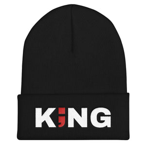 KING ; Embroidered Cuffed Beanie