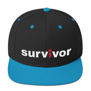 survivor ; Embroidered Snapback Hat