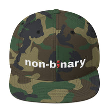 Load image into Gallery viewer, non-binary ; Embroidered Snapback Hat