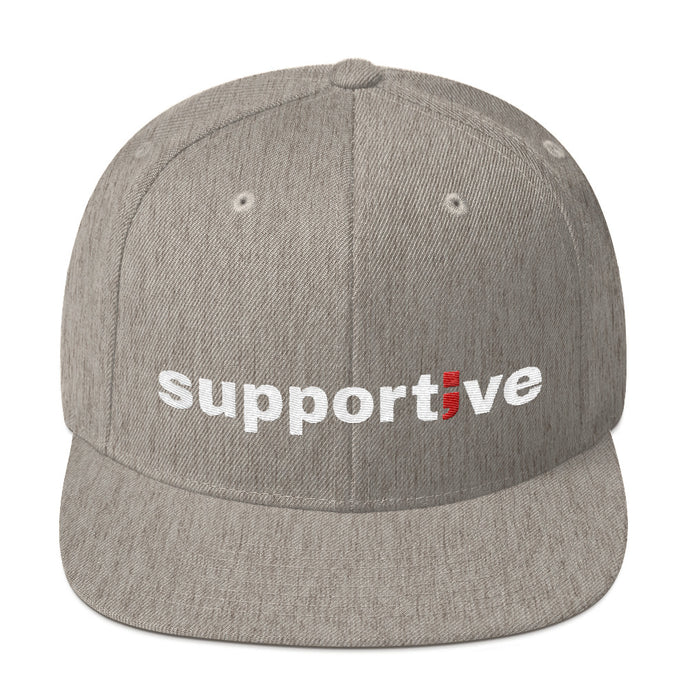 supportive ; Embroidered Snapback Hat