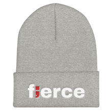 Load image into Gallery viewer, fierce ; Embroidered Cuffed Beanie