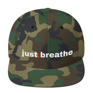 just breathe ; Snapback Hat