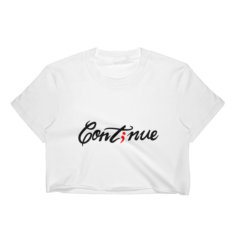 continue ; Women's Crop Top ; Custom