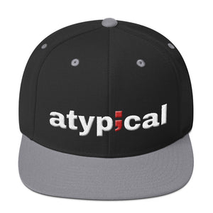 atypical ; Embroidered Snapback Hat