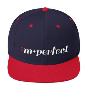 im•perfect ; Embroidered Snapback Hat