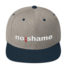 Load image into Gallery viewer, no shame ; Embroidered Snapback Hat