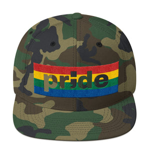 pride ; Embroidered Snapback Hat