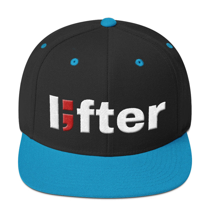 lifter ; Embroidered Snapback Hat