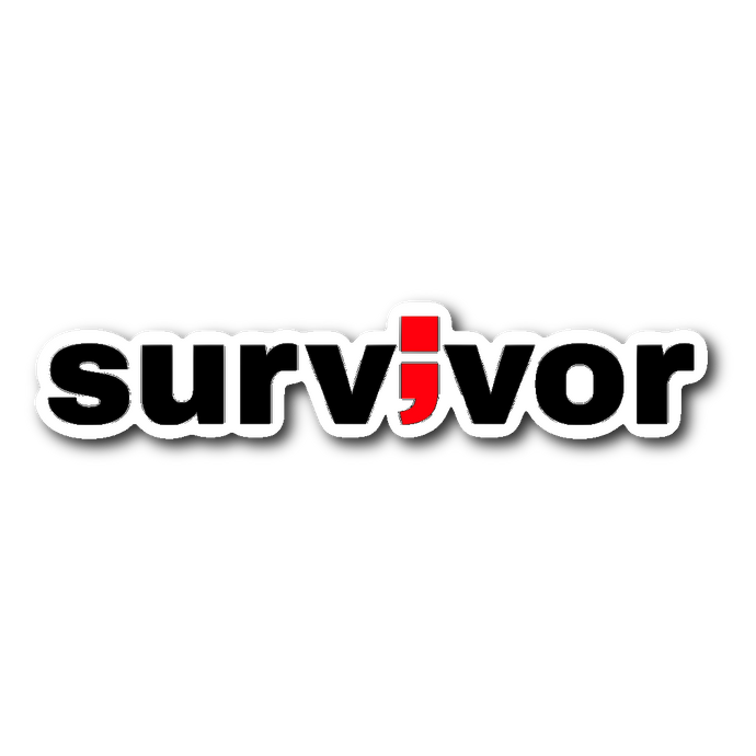 survivor ; die-cut sticker