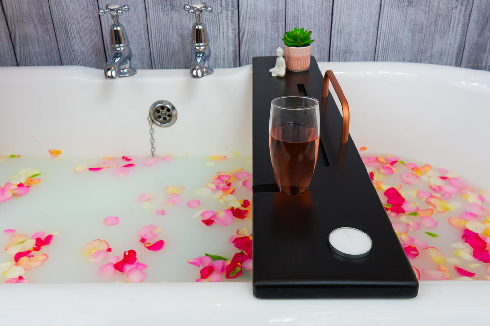 Midnight Black Bath Tray by Boulux Home
