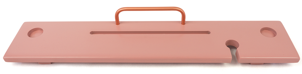 Dusky Pink & Copper Bath Board Caddy - Boulux Home