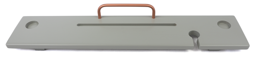 Light Grey & Copper Bath Board Caddy - Boulux Home
