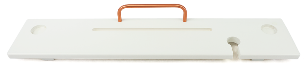 White & Copper Bath Board Caddy - Boulux Home