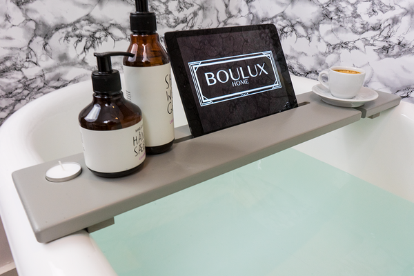 Light Grey & Copper Bath Tray - Boulux Home