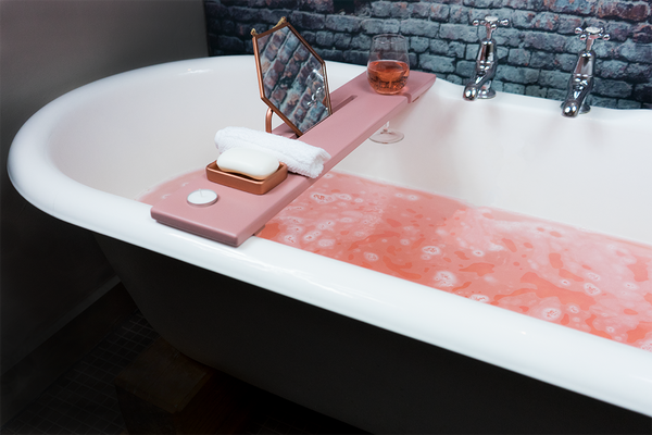 Dusky Pink & Copper Bath Tray - Boulux Home