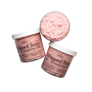 Strawberry Wine Whipped Soap