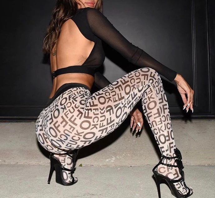 Reza Mesh Leggings