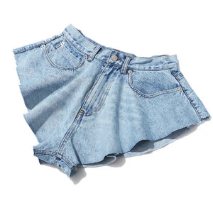Sage Denim Shorts