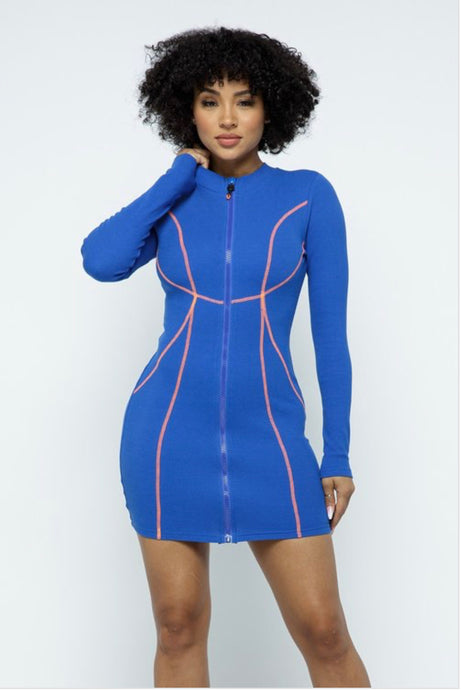 Cleo Mini Dress - Blue