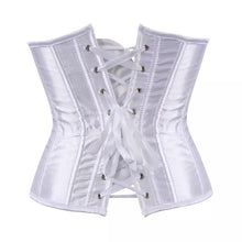 Load image into Gallery viewer, Satin Corset - White