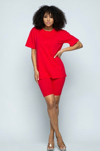 Tilly Two piece Set - Red
