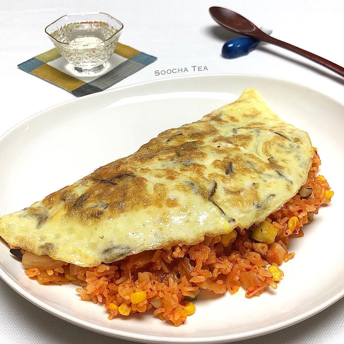 Kimchi Fried Rice with Woojeon Egg Wrap