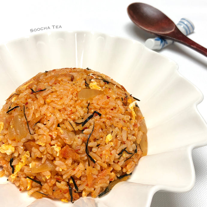 Kimchi Fried Rice with Barley Sprout