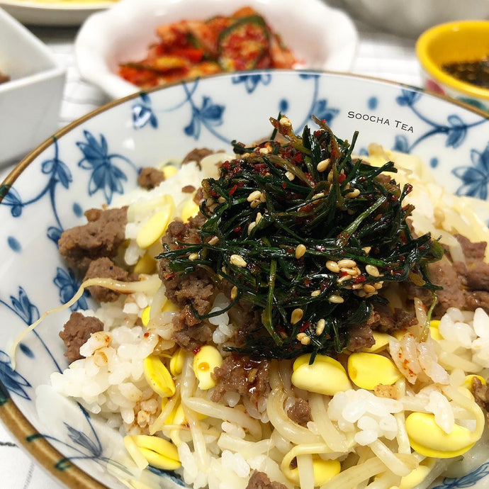 Barley Sprout Sauce with Soybean Sprout Rice
