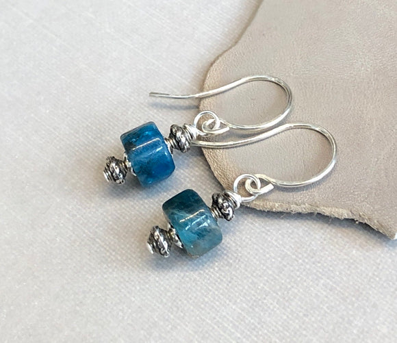 Apatite Wheel Earrings