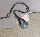 Tourmalinated Quartz Briolette Necklace