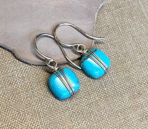 Turquoise Cushion Earrings