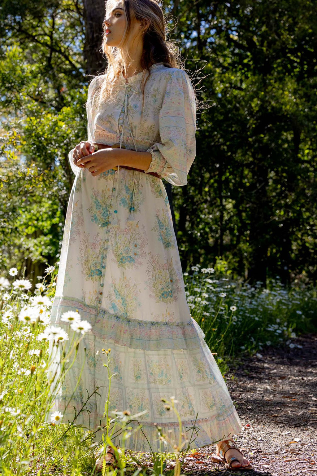 Sweet Pea - Smocked Maxi Dress